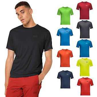 Jack Wolfskin 2021 Mens Tech Moisture Wicking Stay Fresh camiseta ligera