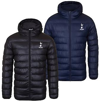 Tottenham Hotspur FC Official Football Gift Mens Quilted Hooded Winter Jacket