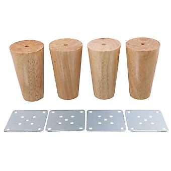 4pcs Wood Cone Furniture Foot Leg Feet 10*6*3.8cm
