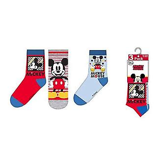 Chaussettes Mickey Mouse 3-pack - Gris/Bleu/Rouge