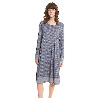 Rösch Pure 1203558-16544 Kvinnor's Tweed Check Nightdress