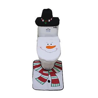 Home Decoration Bathroom Toilet Seat Cover Snowman Decor