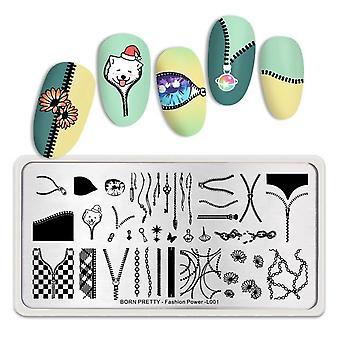 Rektangel Nail Stempling Plader til Nail Manicure