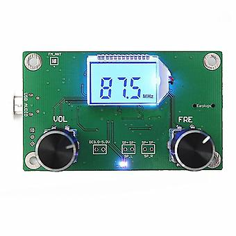 1pc 87-108mhz Dsp&pll Lcd Stereo Digital Fm Radio Receiver Module + Serial