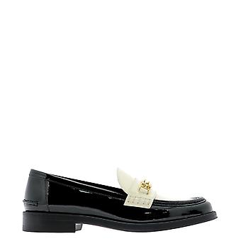 Bally 6234779 Women's White/black Patent Leather Loafers