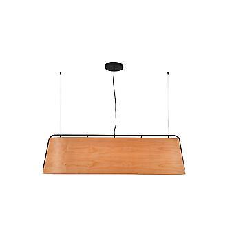 Stood Black And Wood Pendant Lamp 5 Bulbs