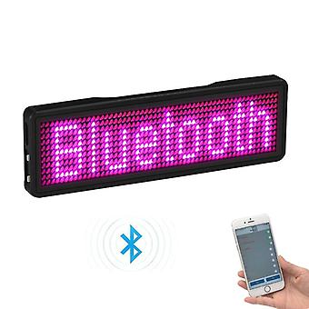 Bluetooth Programable Led Name Badge Case With Magnet And Pin For Event Cafe Bar Restaurant Expo Show
