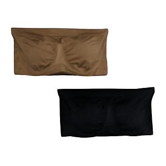 Rhonda Shear 2-pack Seamless Underwire Bandeau Bra 679-035