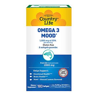 Country Life Omega 3 Tunnelma, 180 Softgels