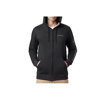Columbia Logo Fleece FZ Hoodie 1889161010 universal all year men sweatshirts