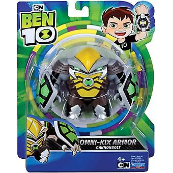 Ben 10 action figure - cannonbolt omni kix for ages 4+