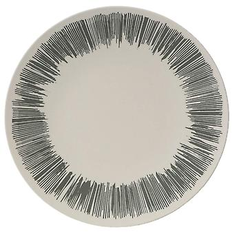 Vango Harmaa Raita Bamboo Illallinen Plate 28cm