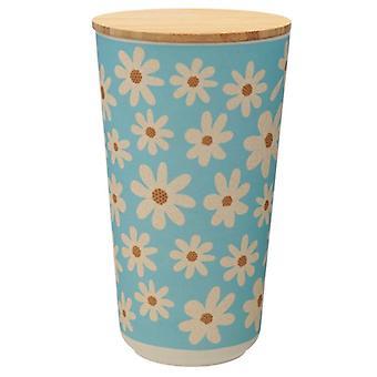 Puckator Daisy Bamboo Storage Jar, Large