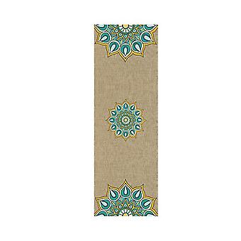 Yoga Mat Harmony Teal Eco Rubber Teal And Earth