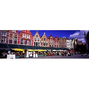 Gatubilden Brugge Belgien affisch Skriv
