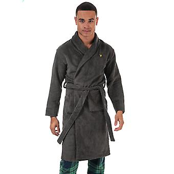 Men's Lyle And Scott Lucas Dressing Gown in Grey