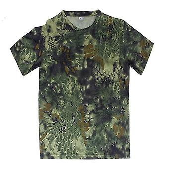 Tactical Shirt Camo Army Round Collar, Anti-uv Perspiration For  Outdoor