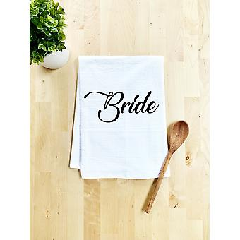 Printed Bride Dish Towel