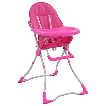 Baby High Chair Pink and White