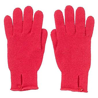 Johnstons of Elgin Button Loop Gloves - Lotus Pink