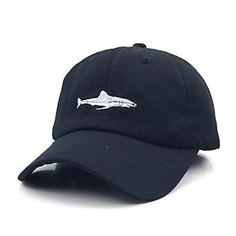 Stitched Shark Embroidery Curved Baseball Caps