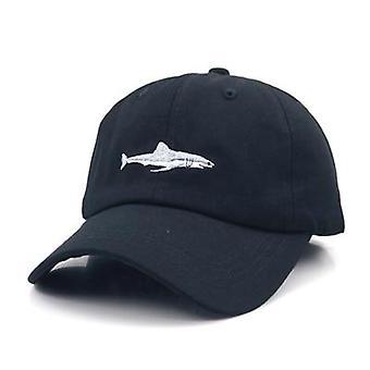 Genähte Hai Stickerei gebogen Baseball-Caps