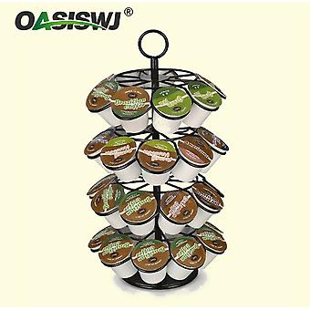 4 Layers Revolving Rotating Capsule Coffee Pods Holder 36 Pods K-cup Docle Gusto Compatible