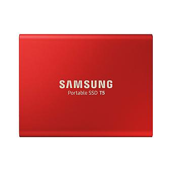 Samsung t5 1 tb usb 3.1 gen 2 (10 gbps, type-c) externe solid state drive (draagbare ssd) metallic r
