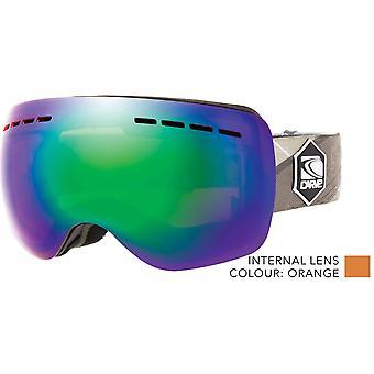 Carve titanium lage licht lens sneeuwbril