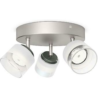 Philips myLiving Fremont 3x4W LED Spotlight (Equivalent 31W) Nickel - 533331716