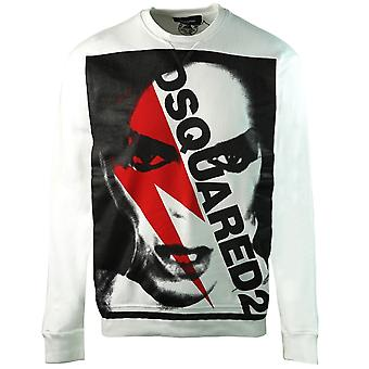 Dsquared2 Bowie Print Cool Fit Suéter blanco