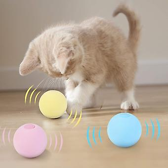 Pet Playing Ball Smart Cat Toys Interactive Ball  Catnip Cat Training Toy Squeaky