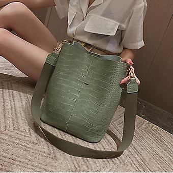 Crocodile Crossbody Bag And Shoulder Bucket Handbag