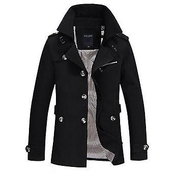 الرجال الخريف معطف طويل، سليم صالح العلامة التجارية Windbreaker رجال الملابس التجارية
