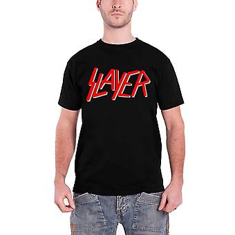 Slayer T Shirt Classic Red Band Logo Official Mens New Black