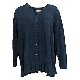 Joan Rivers Classics Collection Women's Plus Sweater V-Neck Blue A309634