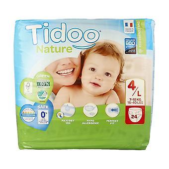 Diapers Size 4 L (7-18 kg) 24 units