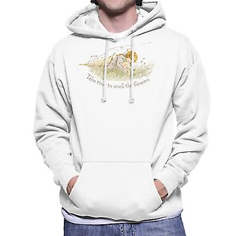 Holly Hobbie Take Time To Smell The Flowers Men's Hooded Sweatshirt
