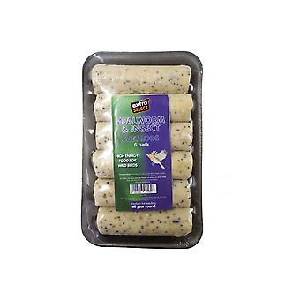 Extra select mealworm & insect suet logs 6pk