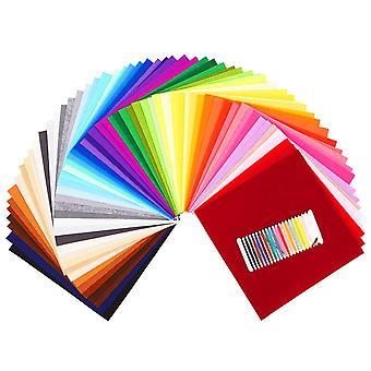 Felt sheets soledÌ 60 colors 12 * 12 inch (30 * 30cm) felt and cushions felt fabric used for diy cr
