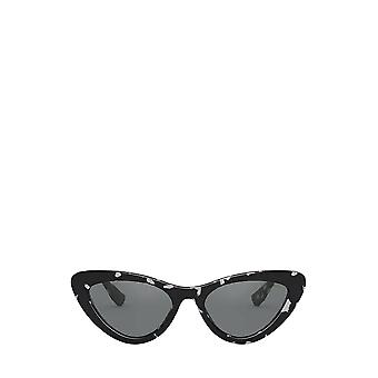 Miu Miu MU 01VS havana gafas de sol femeninas negras blancas