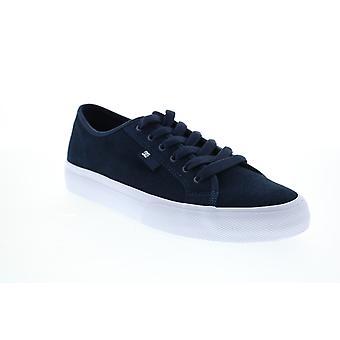 DC Manual S Mens Blue Suede Skate Geïnspireerd sneakers schoenen