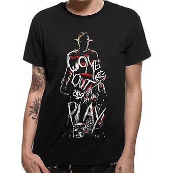 Nightmare On Elm Street Unisex Adult Come Out And Play T-Shirt