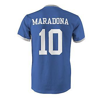 Diego Maradona 10 Argentina Country Ringer T-Shirt