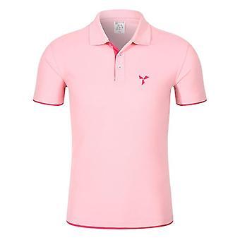 Ανδρικό πλεκτό πουκάμισο πόλο, χρώμα αντίθεσης, κοντό μανίκι, turn-down τοπ λαιμών