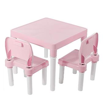 Children Folding Table Chairs Set And Kids Gaming Learning Plastic  Cute Toy