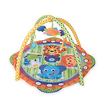 Lorelli Spela båge Safari Crab Blanket Mirror Skallra färgglada leksak från födseln