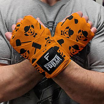 """Forza Sports 180"""" Mexican Style Boxing and MMA Handwraps - Clown Orange"""