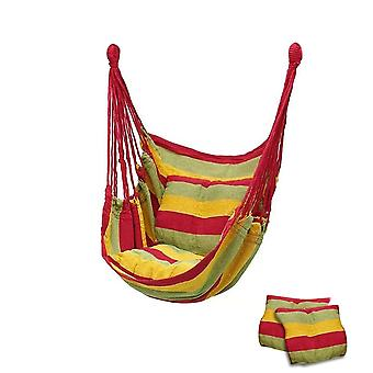 Canvas Bedroom Hanging Hammock Chair, Adults Kids, Indoor Portable, Relaxation,