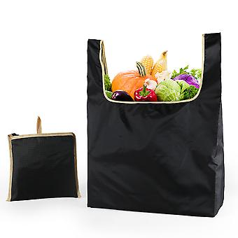 Women's Shopping Bag Reusable Grocery Tote Handbag Black